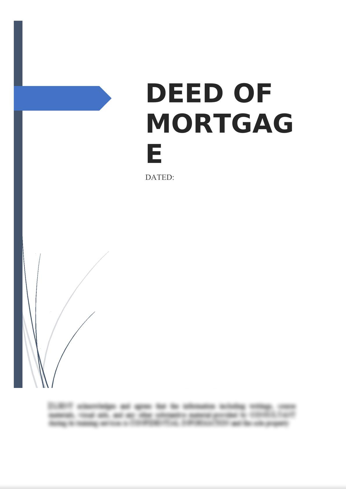 Deed of Mortgage -0
