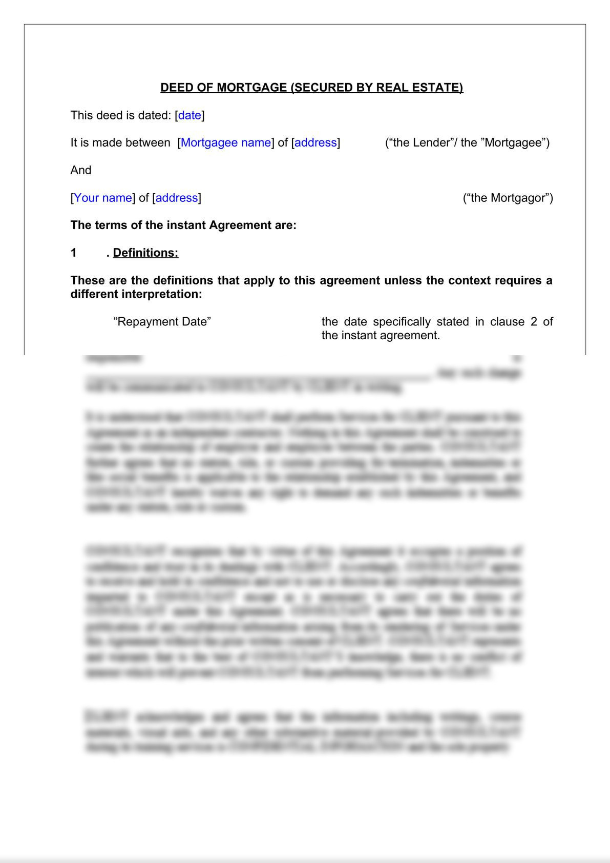 Deed of Mortgage -2