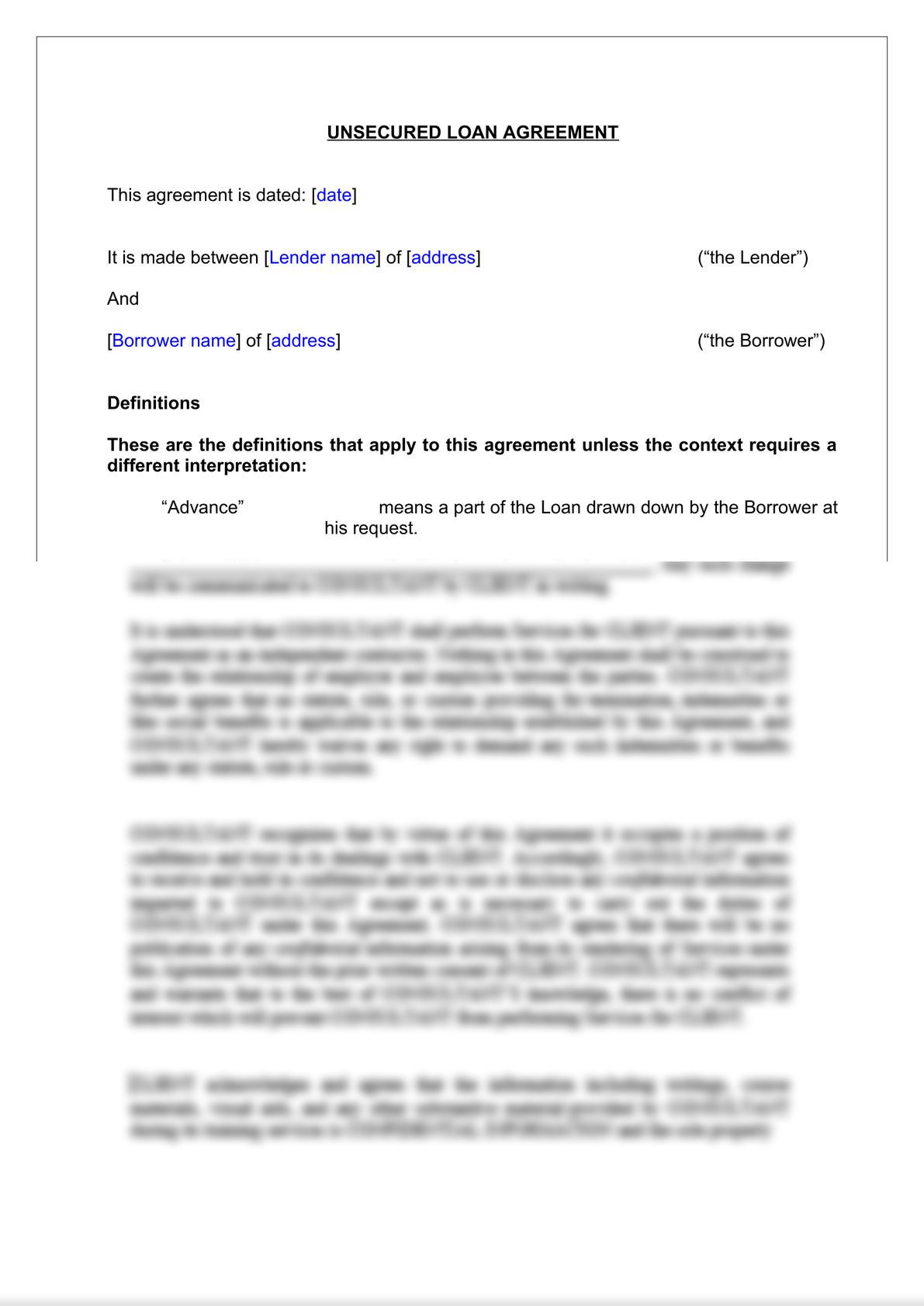Unsecured Loan Agreement-2