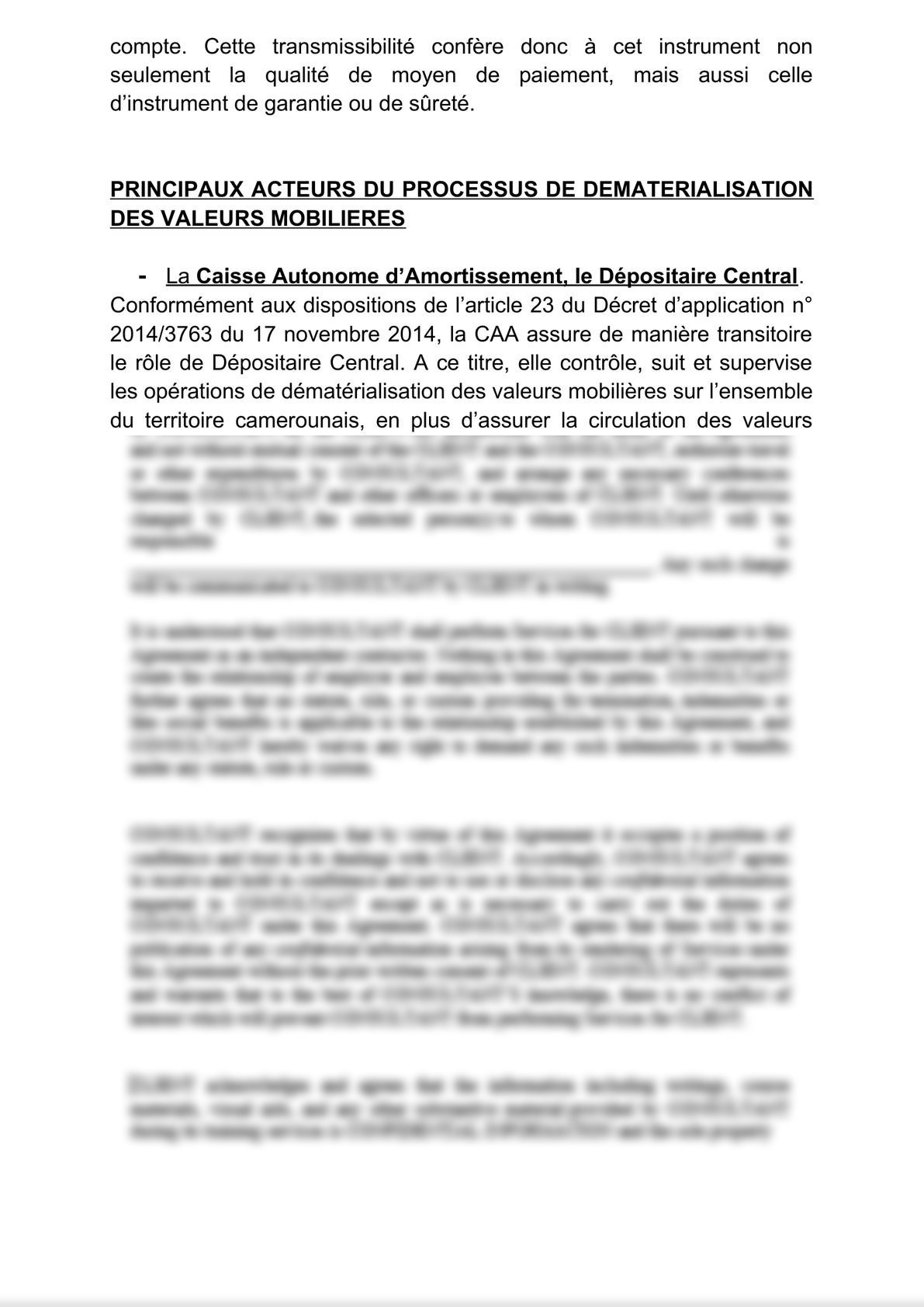 Dématérialisation et sécurité dans la circulation des titres sociaux : le cas du Cameroun-1