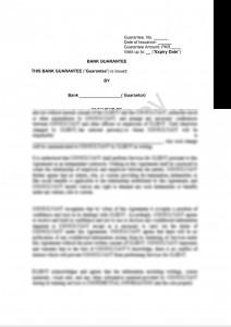 Bank Guarantee Draft