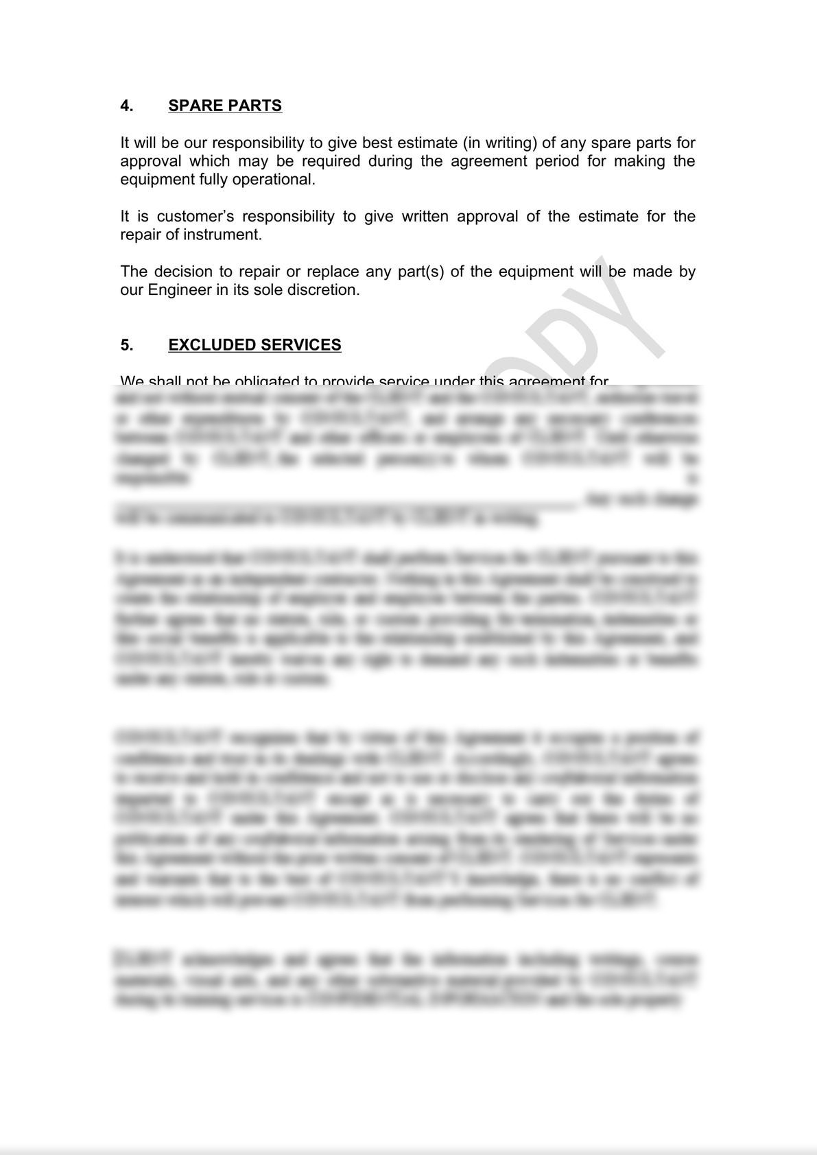 Service Contract Draft (labor only)-2