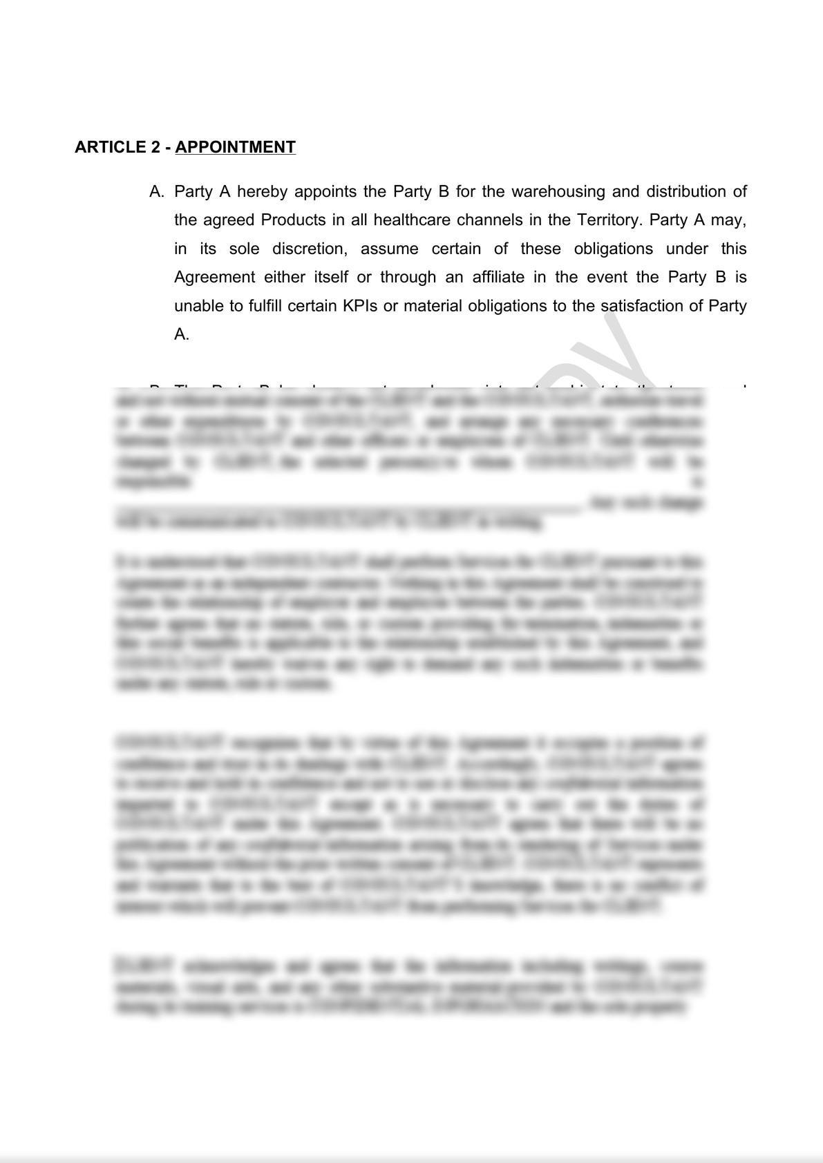 Distribution Agreement Draft (iii)-2