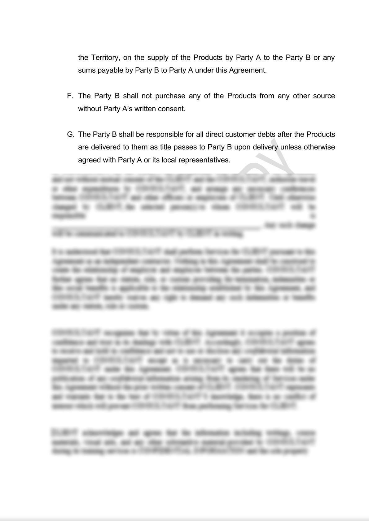 Distribution Agreement Draft (iii)-4