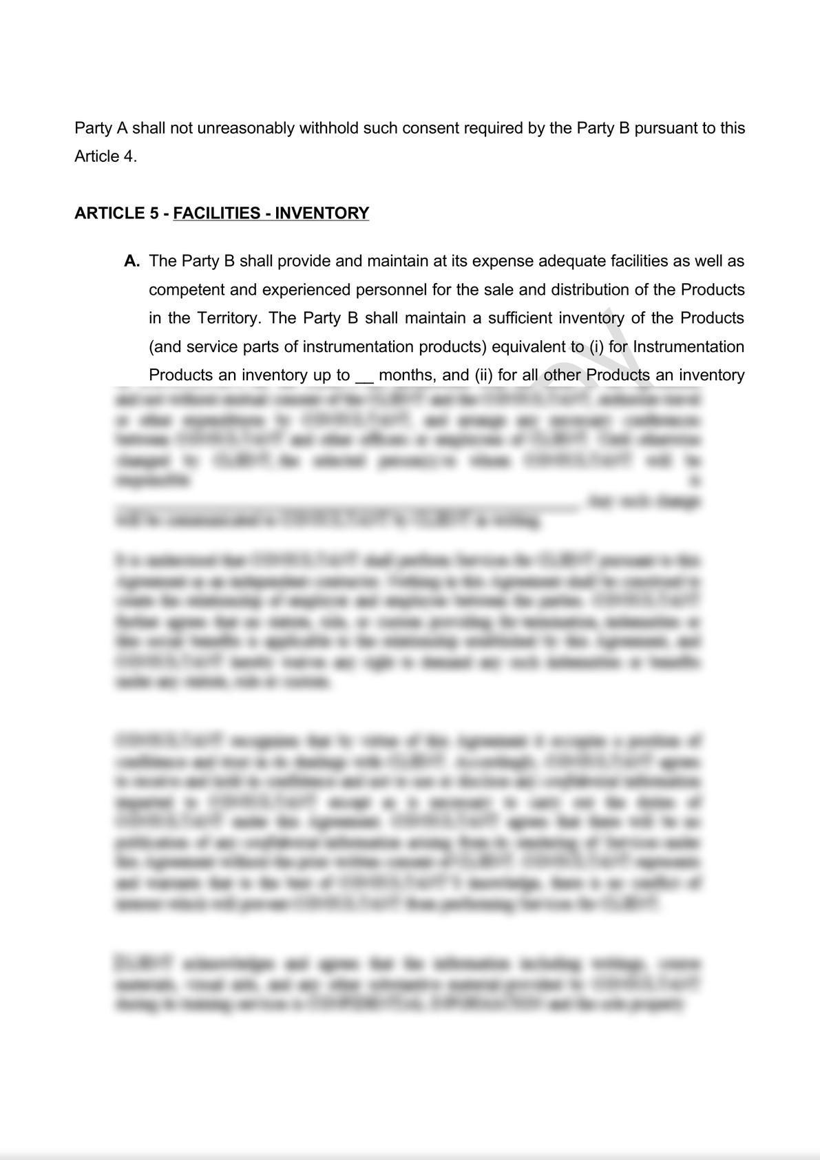 Distribution Agreement Draft (iii)-6