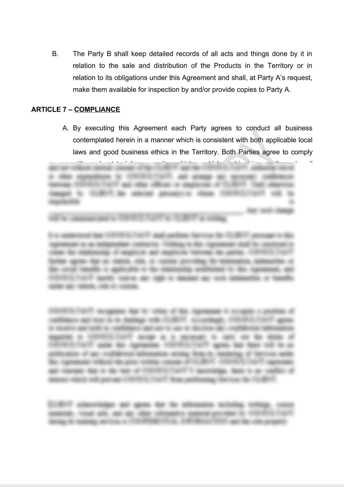 Distribution Agreement Draft (iii)-8