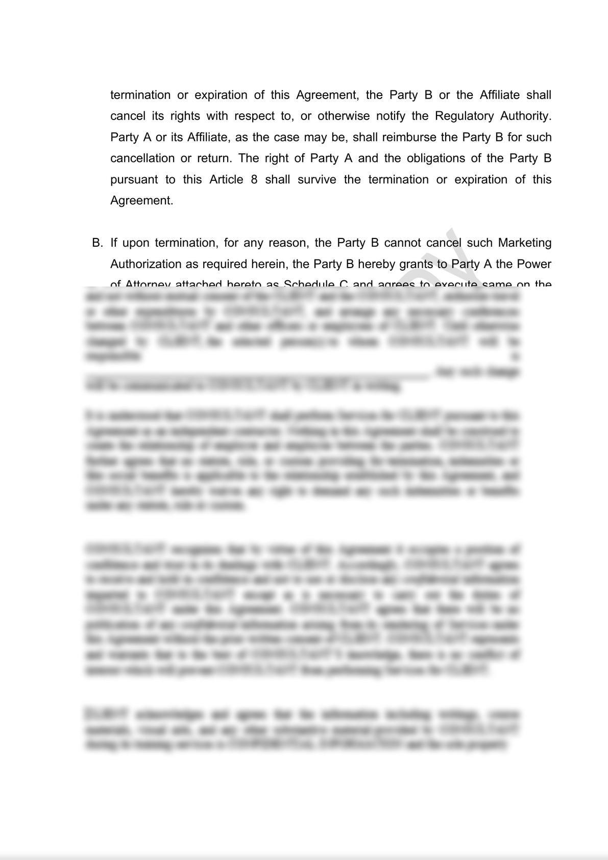 Distribution Agreement Draft (iii)-9