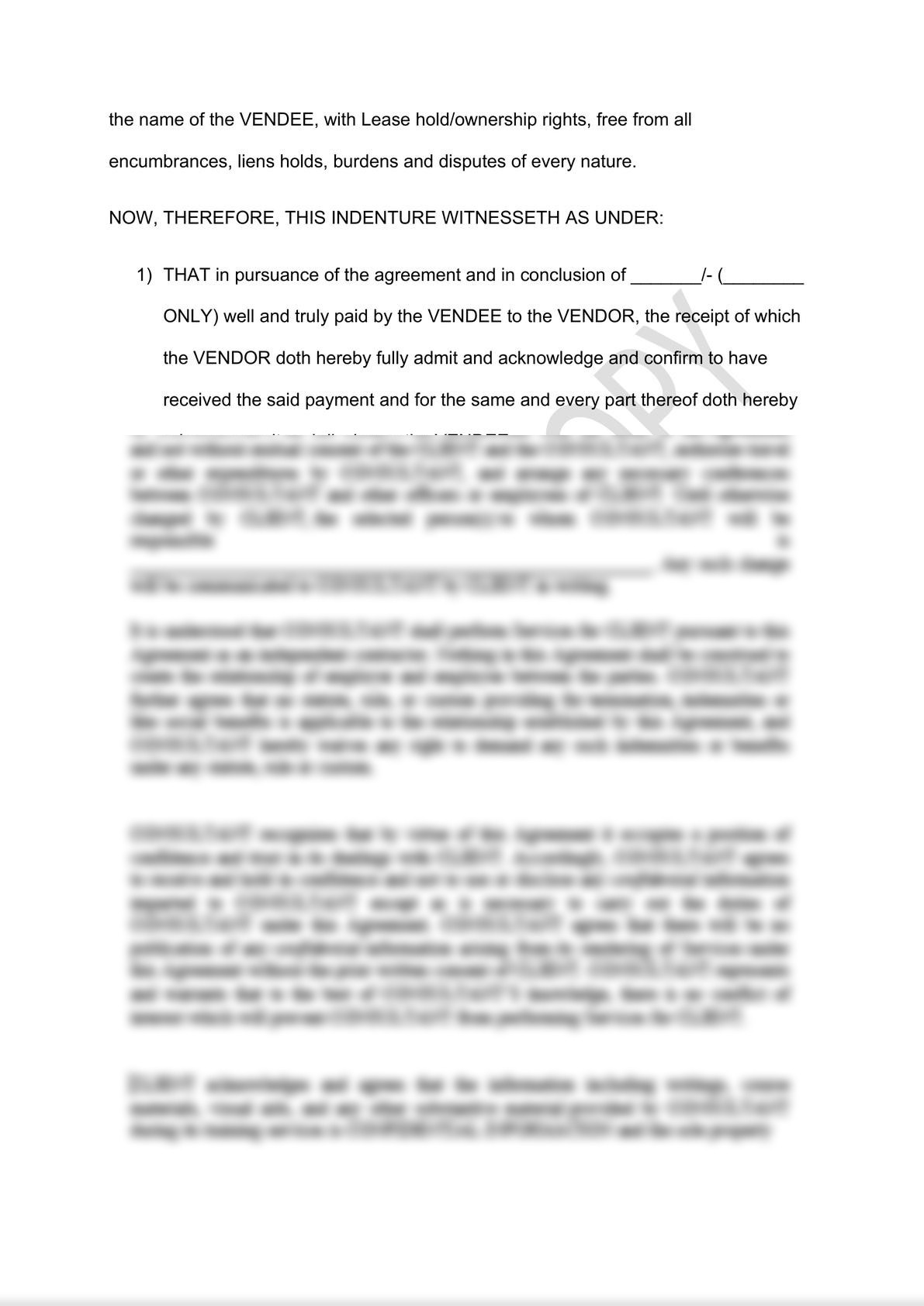 Sale Deed of Immovable Property Draft -1