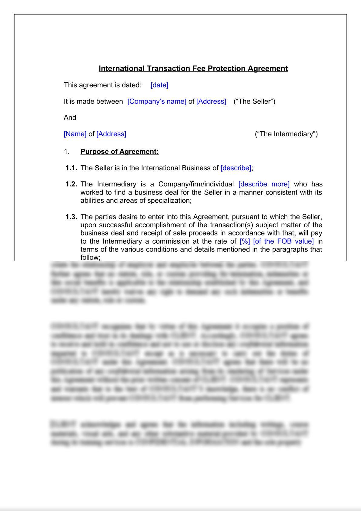 International Transaction Fee Protection Agreement-2