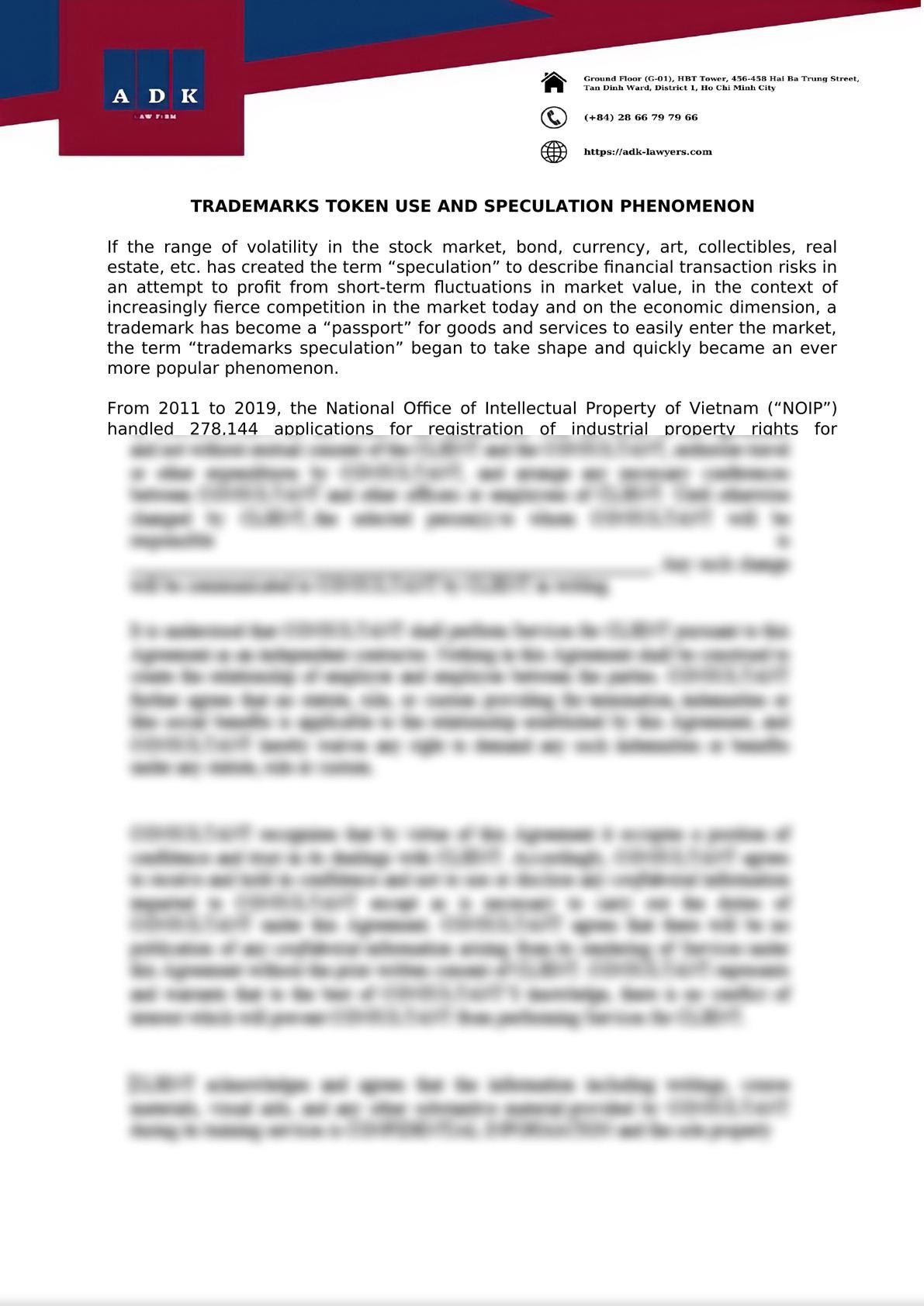 Trademarks token use and speculation-0