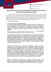 Buy Of The Plan House In Vietnam