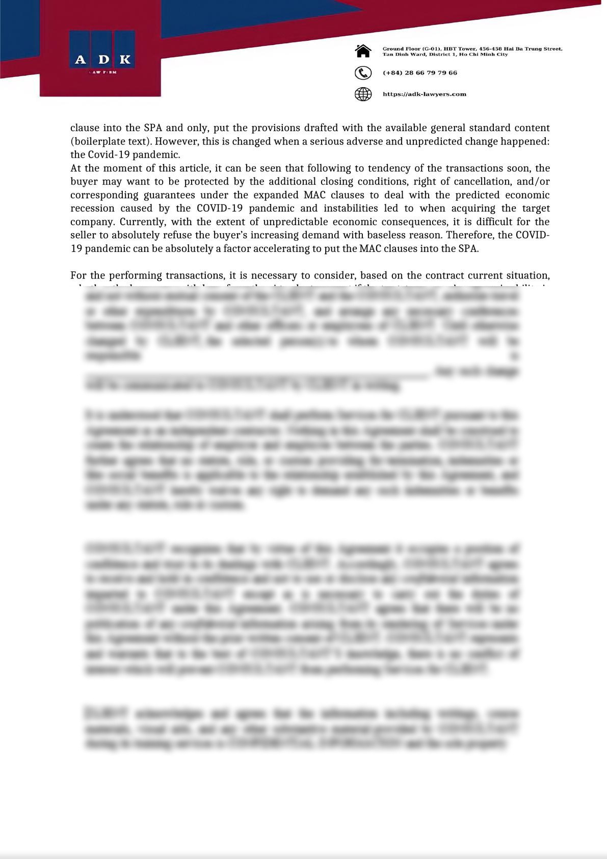 MAC CLAUSE ON M&A TRANSACTION IN COVID 19 PANDEMIC PERIOD-1
