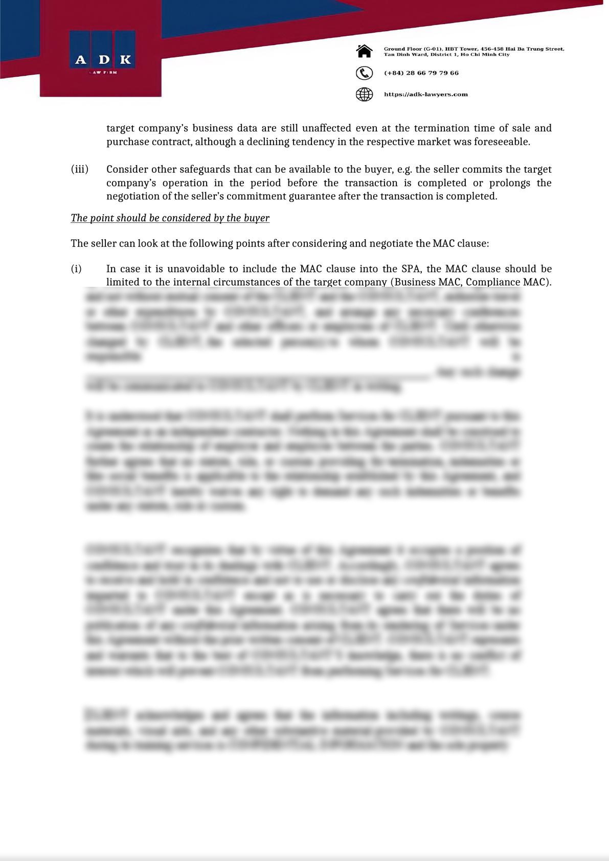 MAC CLAUSE ON M&A TRANSACTION IN COVID 19 PANDEMIC PERIOD-2