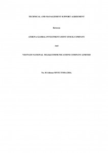 Technical and Management Service Agreement in Telecom