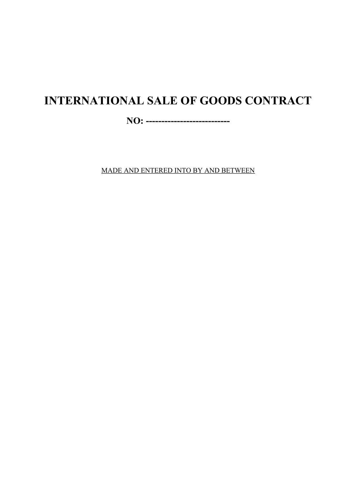International Sale of Goods Contract-0