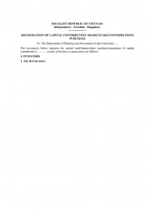 Notification template for approval M&A in Vietnam (in Vietnamese and English)