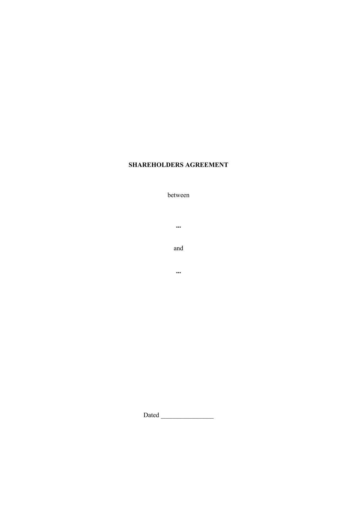 Shareholders agreement-0