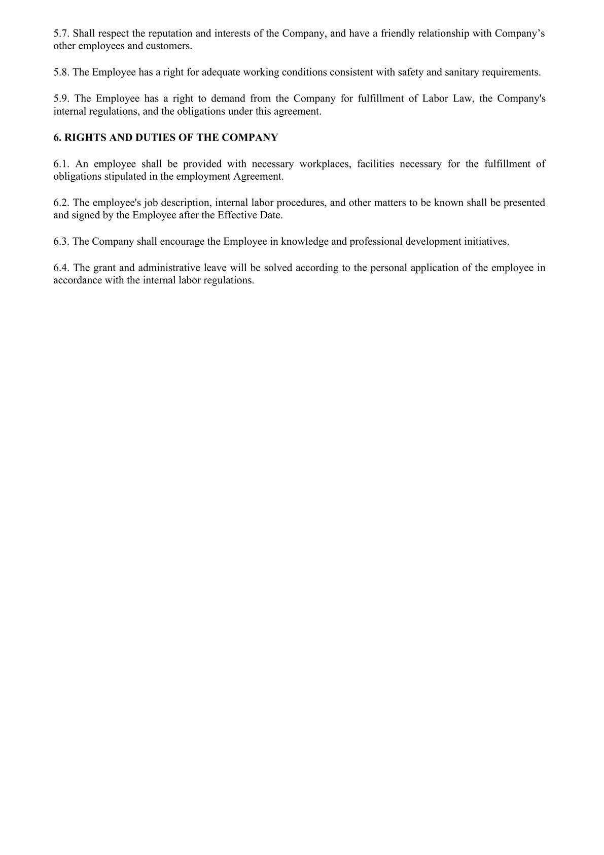 Standard Employment Contract-1