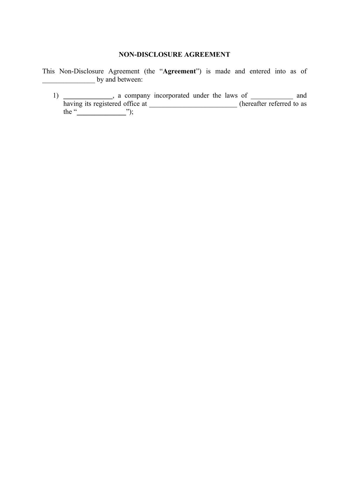 Non Disclosure Agreement (NDA)-0