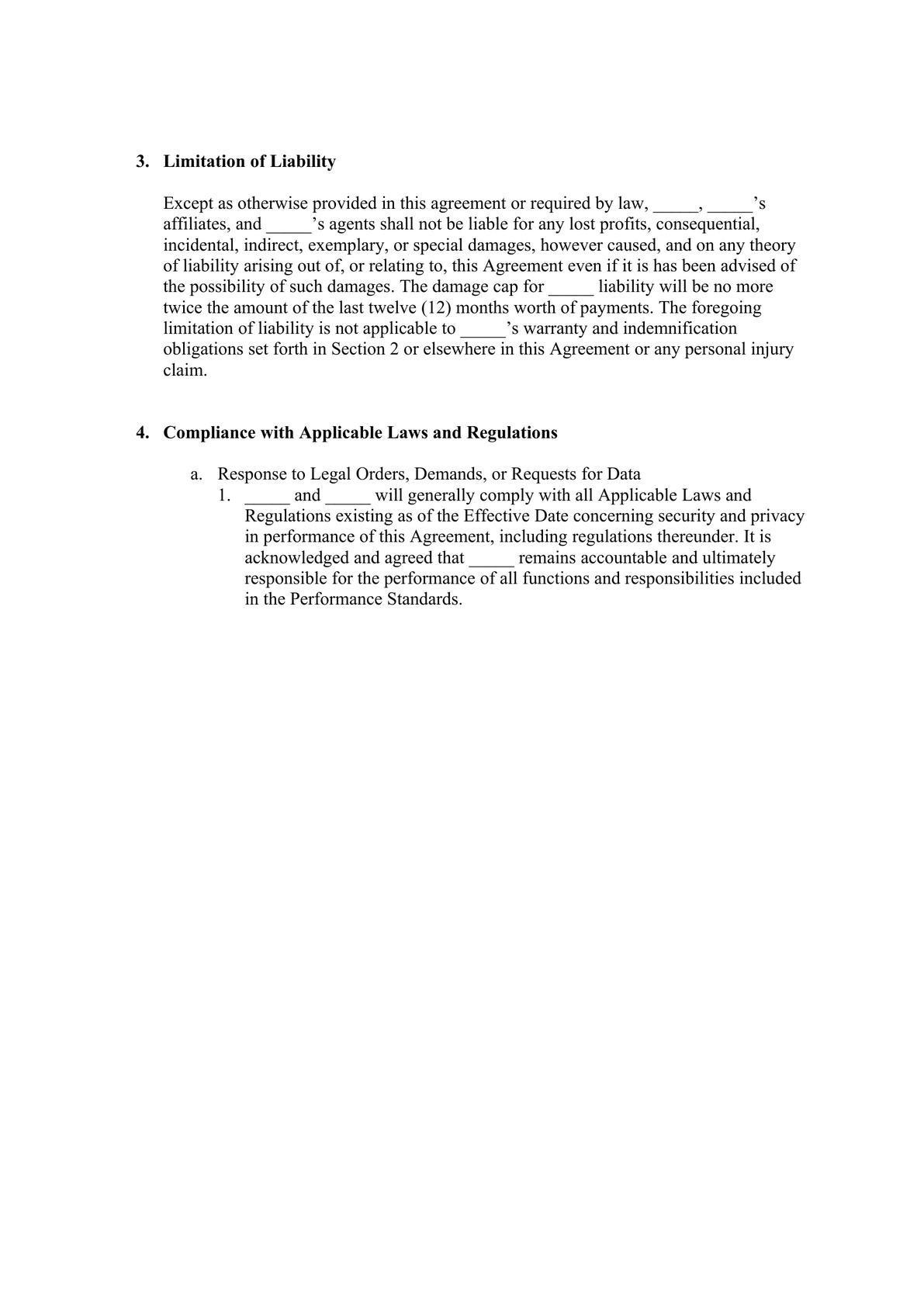 Service Hosting Agreement for END USER data services-2
