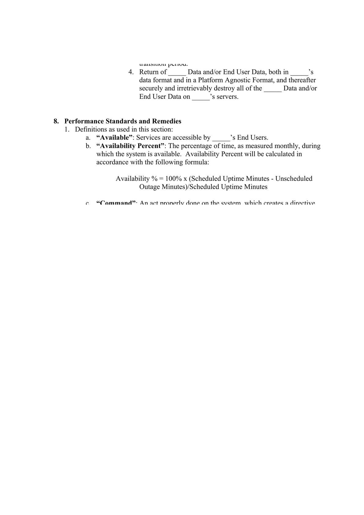 Service Hosting Agreement for END USER data services-5