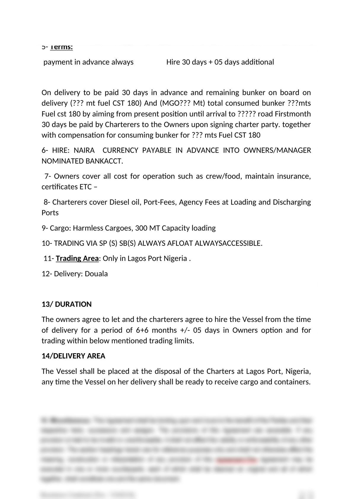 charter party agreement in cameroon-1