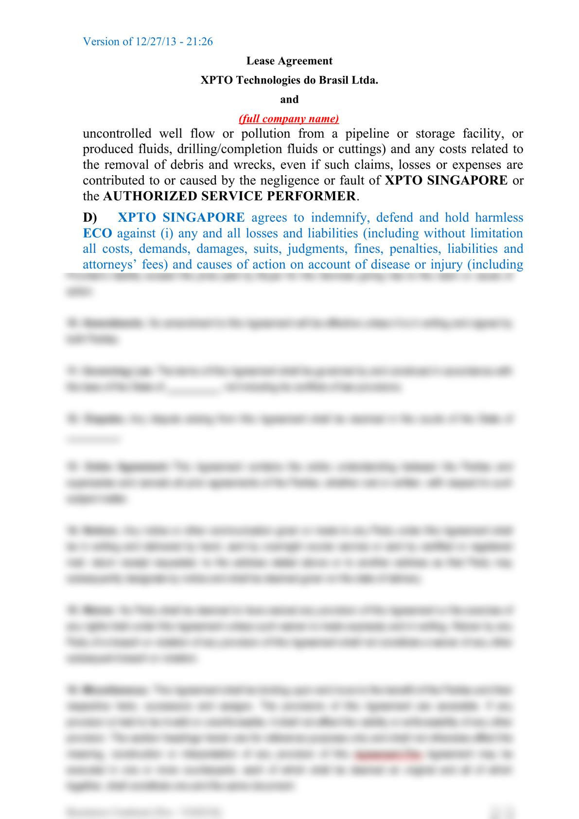 Subsea equipment lease agreement-6