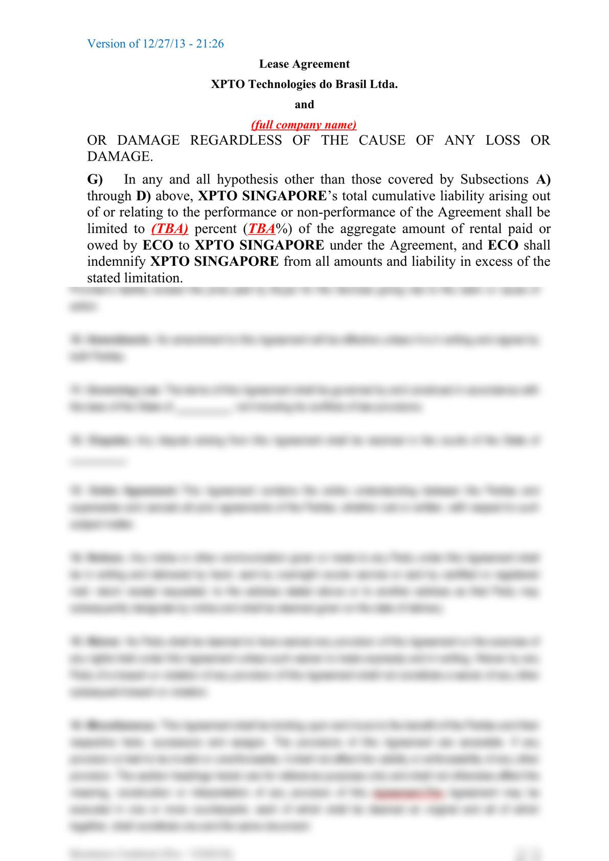 Subsea equipment lease agreement-7