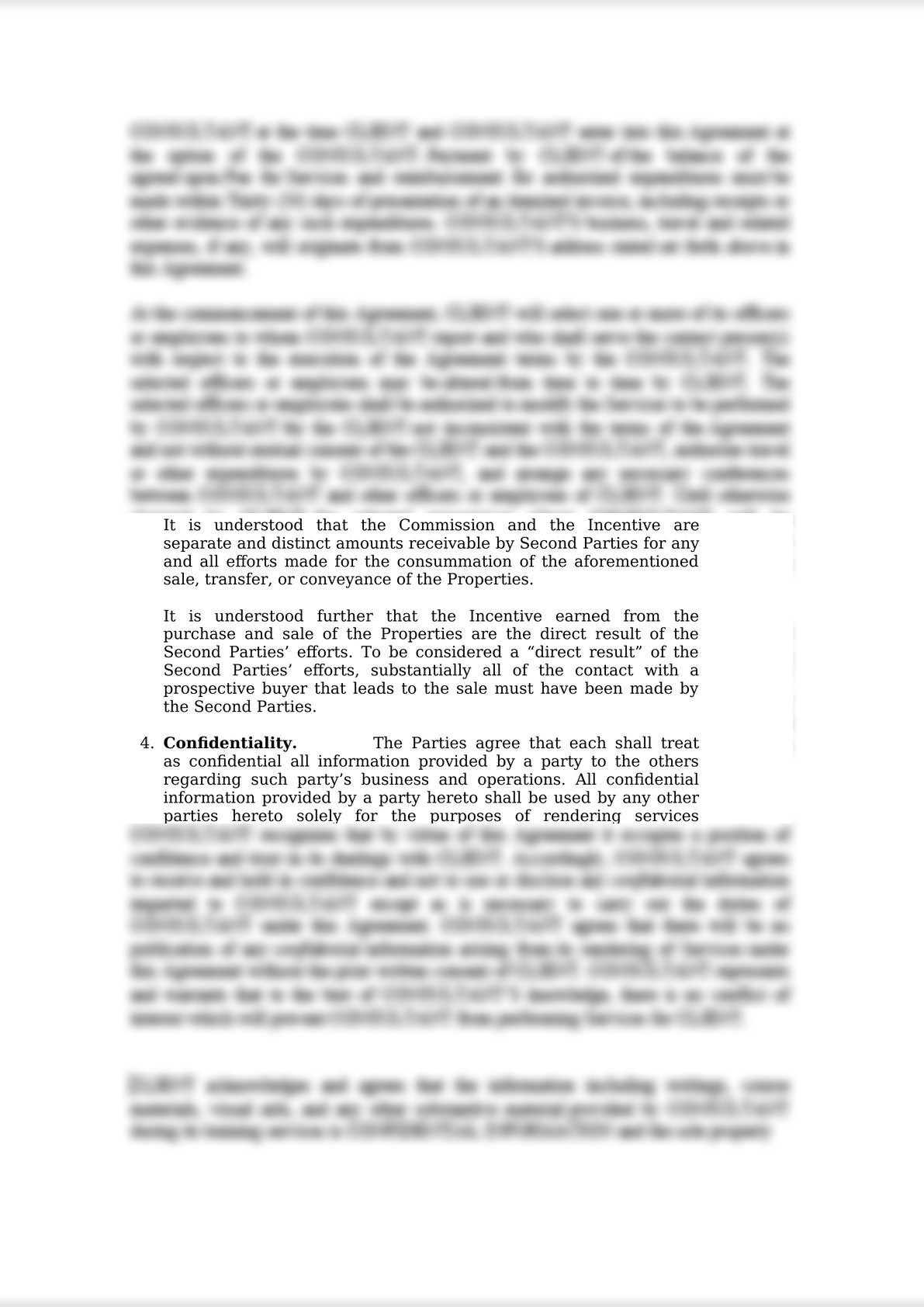 Memorandum of Agreement - Broker's Compensation and Profit-Sharing Scheme-0