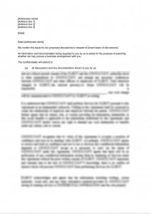 Confidentiality Letter - Short Form