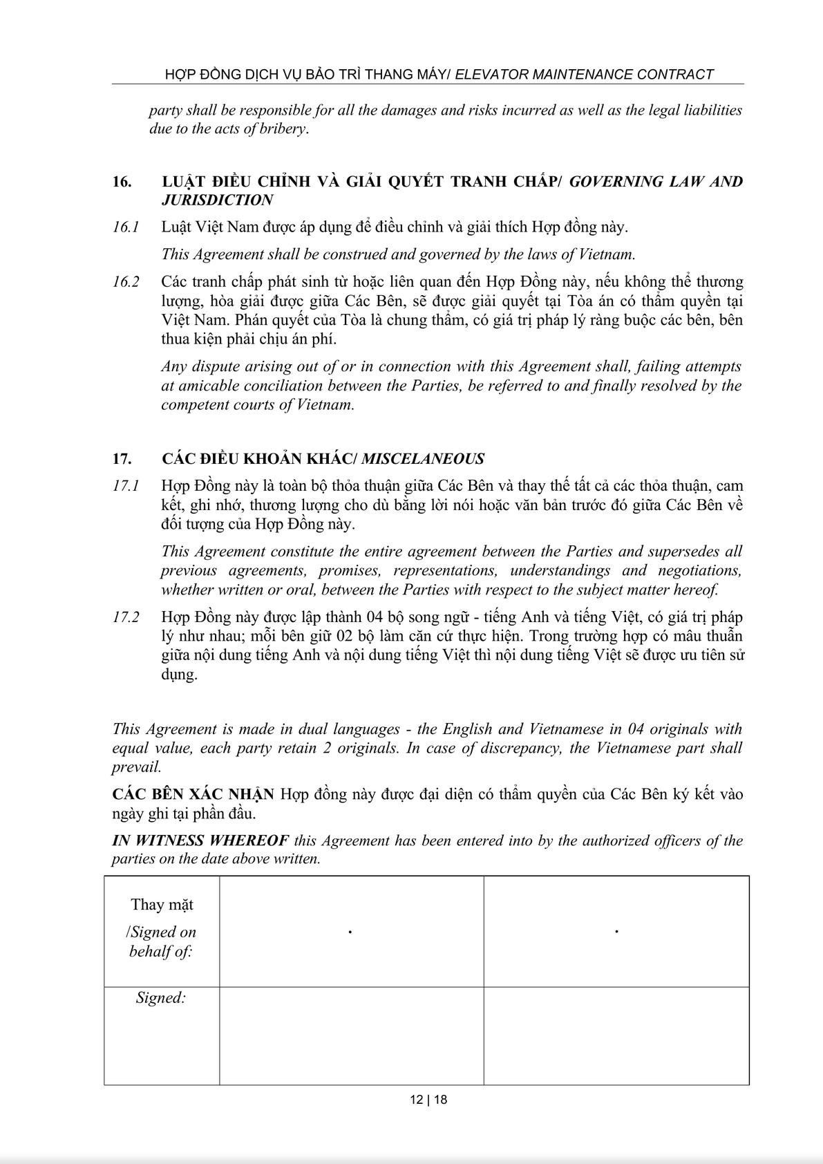 Maintenance Service Agreement-11