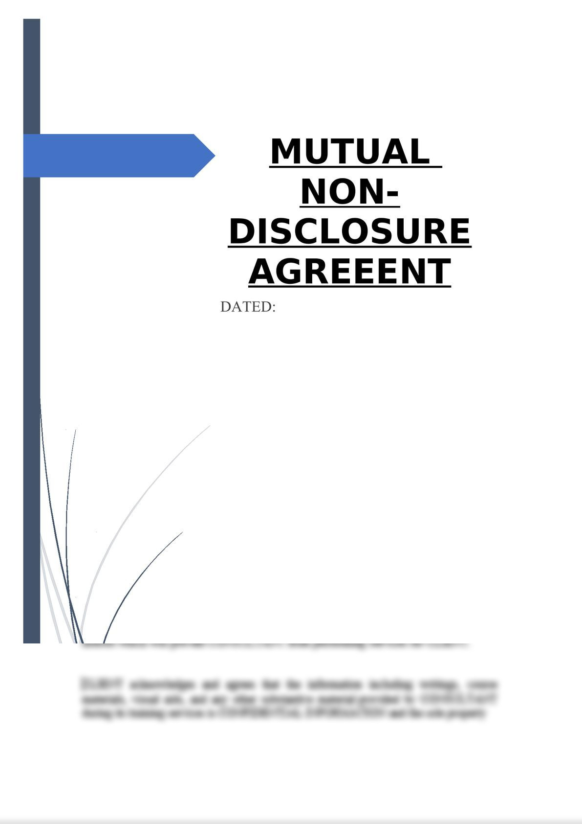 Mutual Non-Disclosure Agreement-0