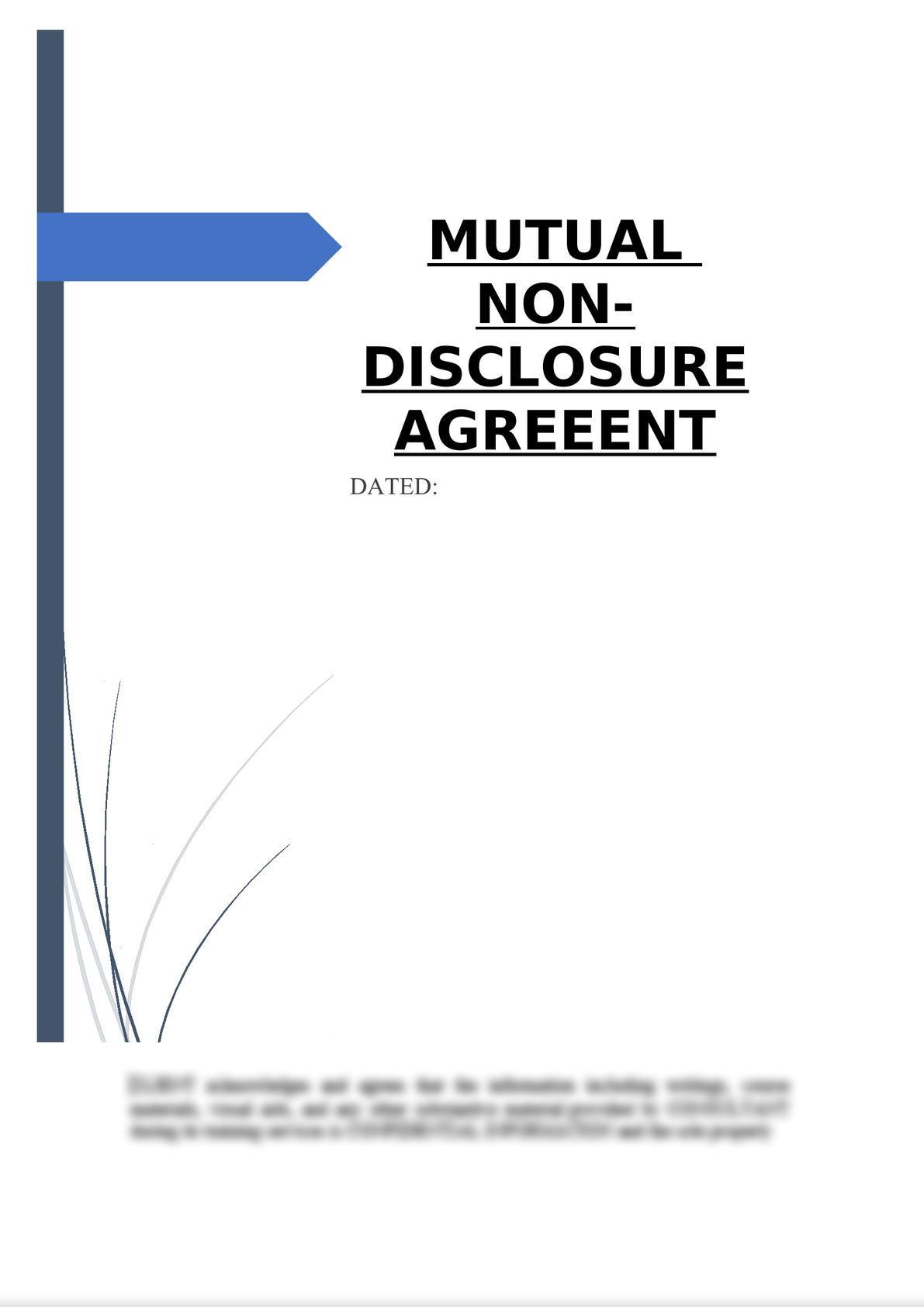 Mutual Non-Disclosure Agreement-0