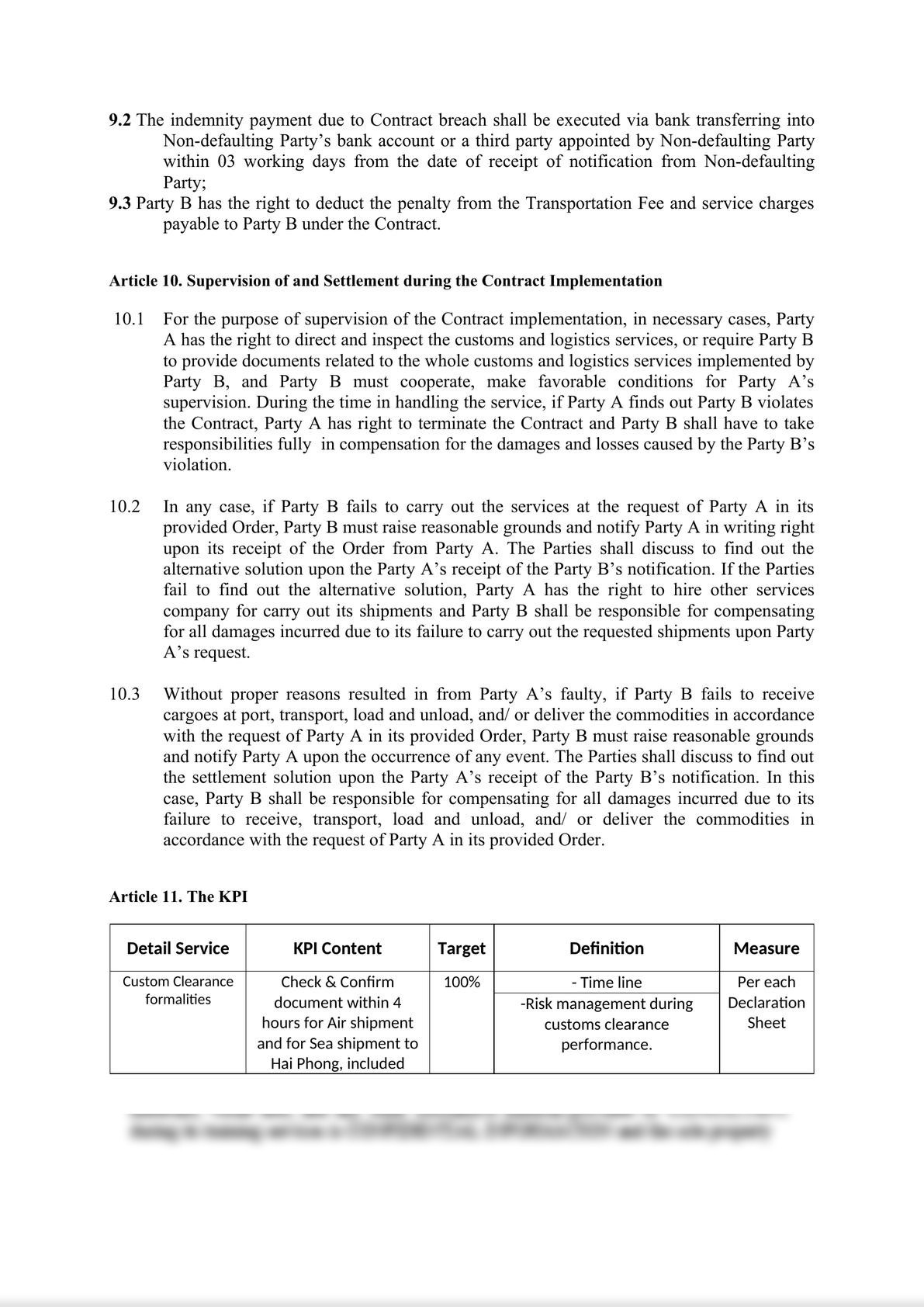 Customs Broker Service Contract-4