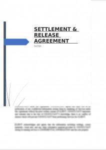 Settlement & Release Agreement