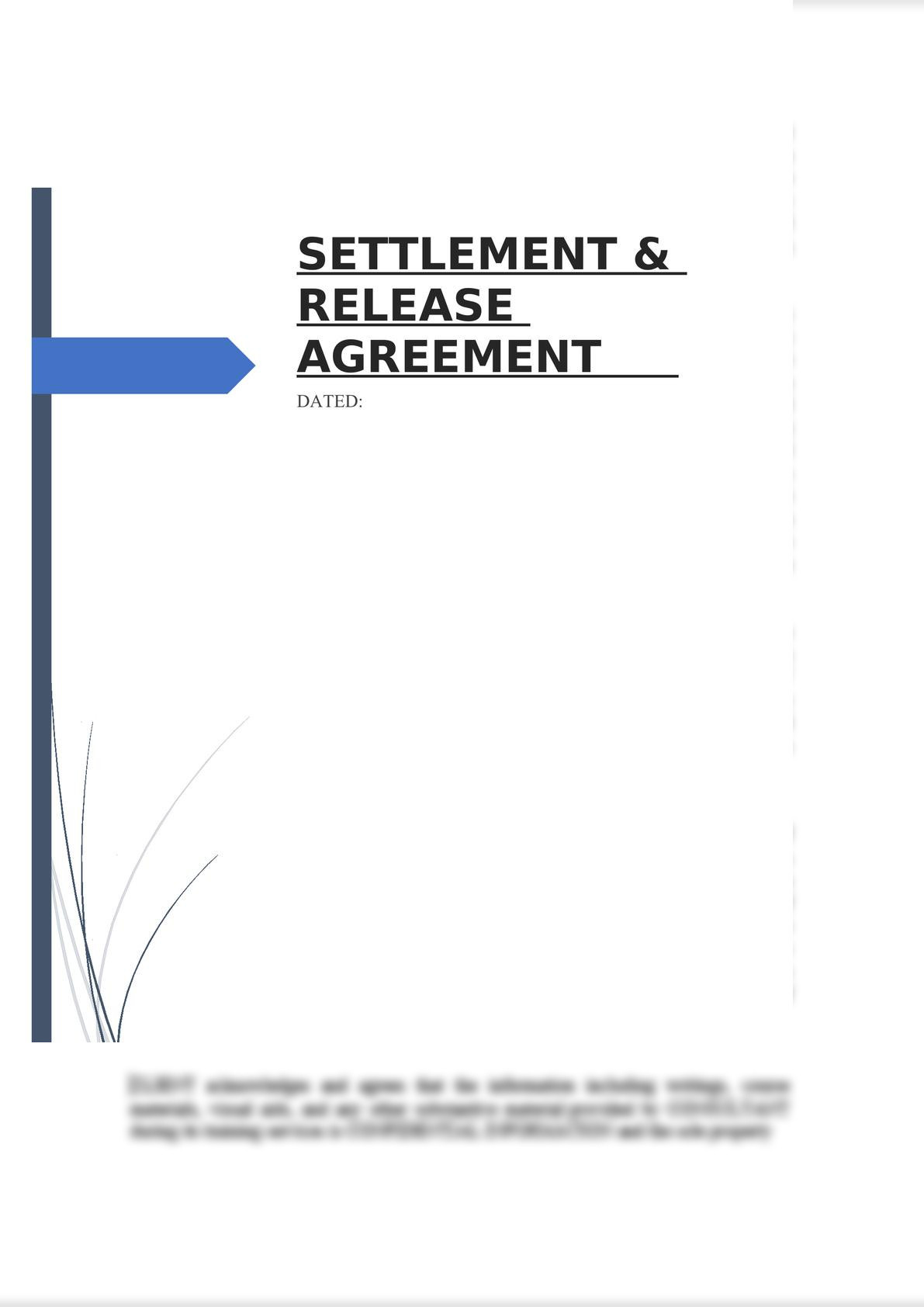 Settlement & Release Agreement-0