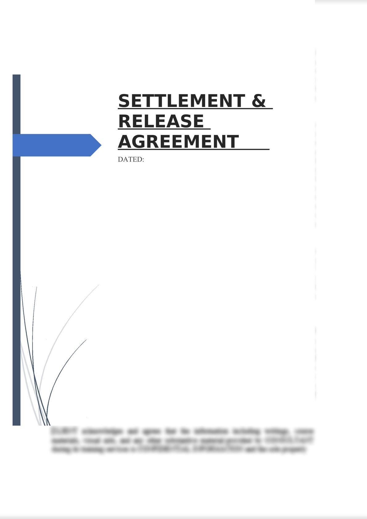 Settlement & Release Agreement-0