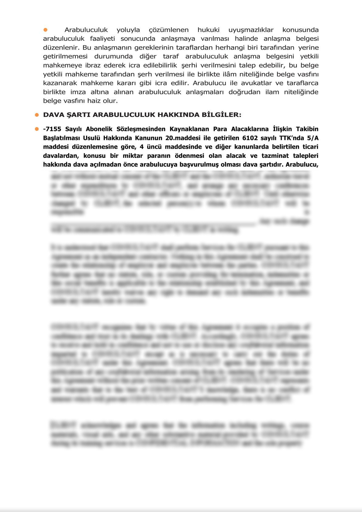 Minute of Informing Parties Before Mandatory Mediation for Commercial Disputes - Turkish-1