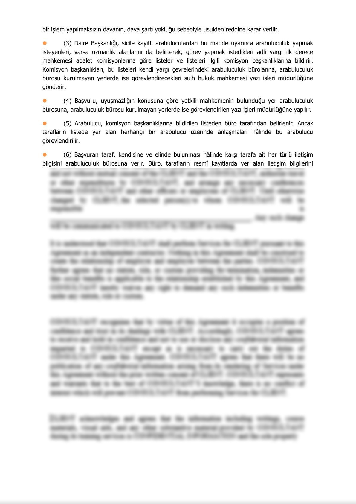 Minute of Informing Parties Before Mandatory Mediation for Commercial Disputes - Turkish-2