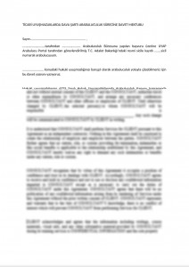Invitatition Letter to Parties of Mandatory Mediation on Commercial Disputes - Turkish