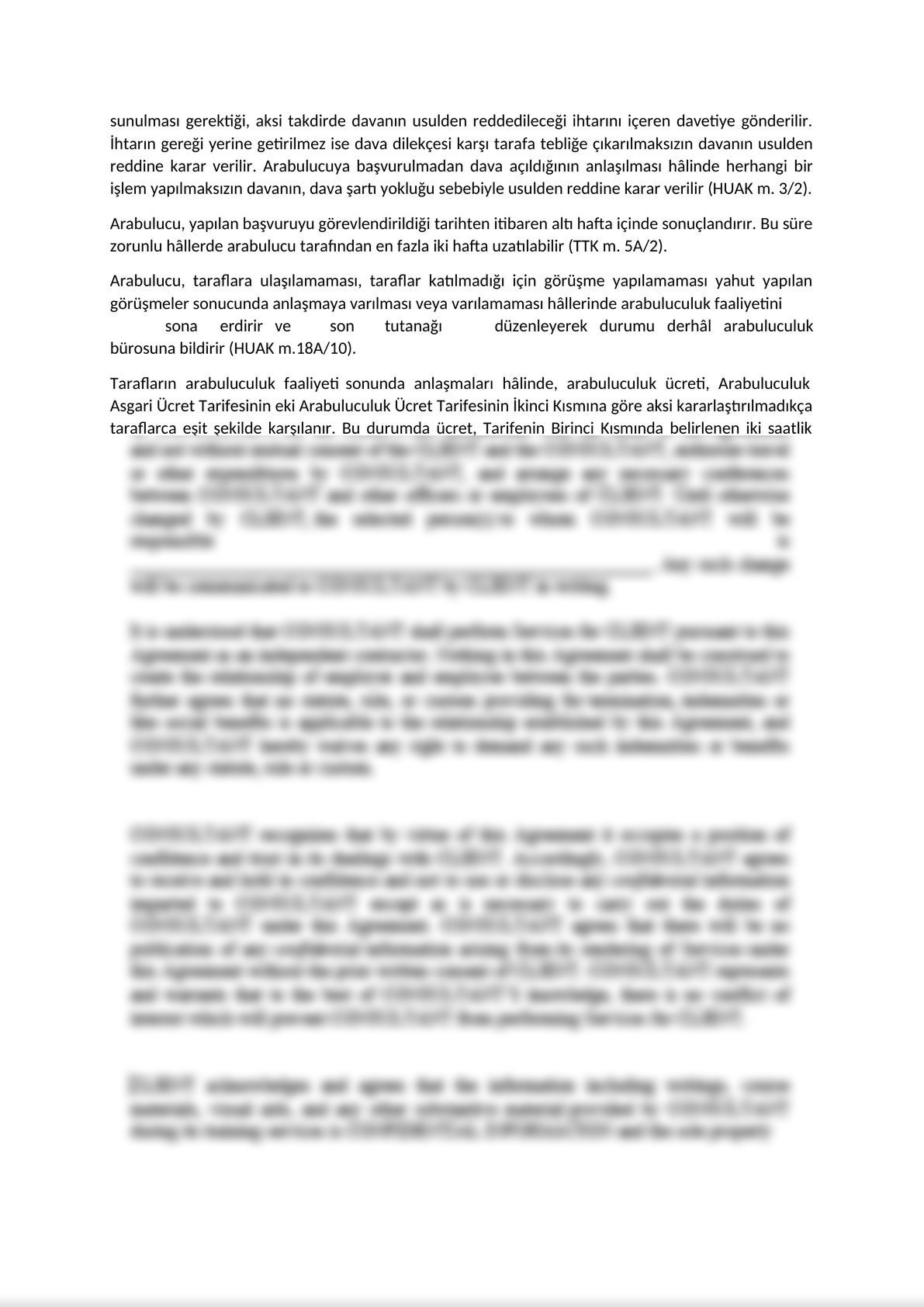 Invitatition Letter to Parties of Mandatory Mediation on Commercial Disputes - Turkish -1
