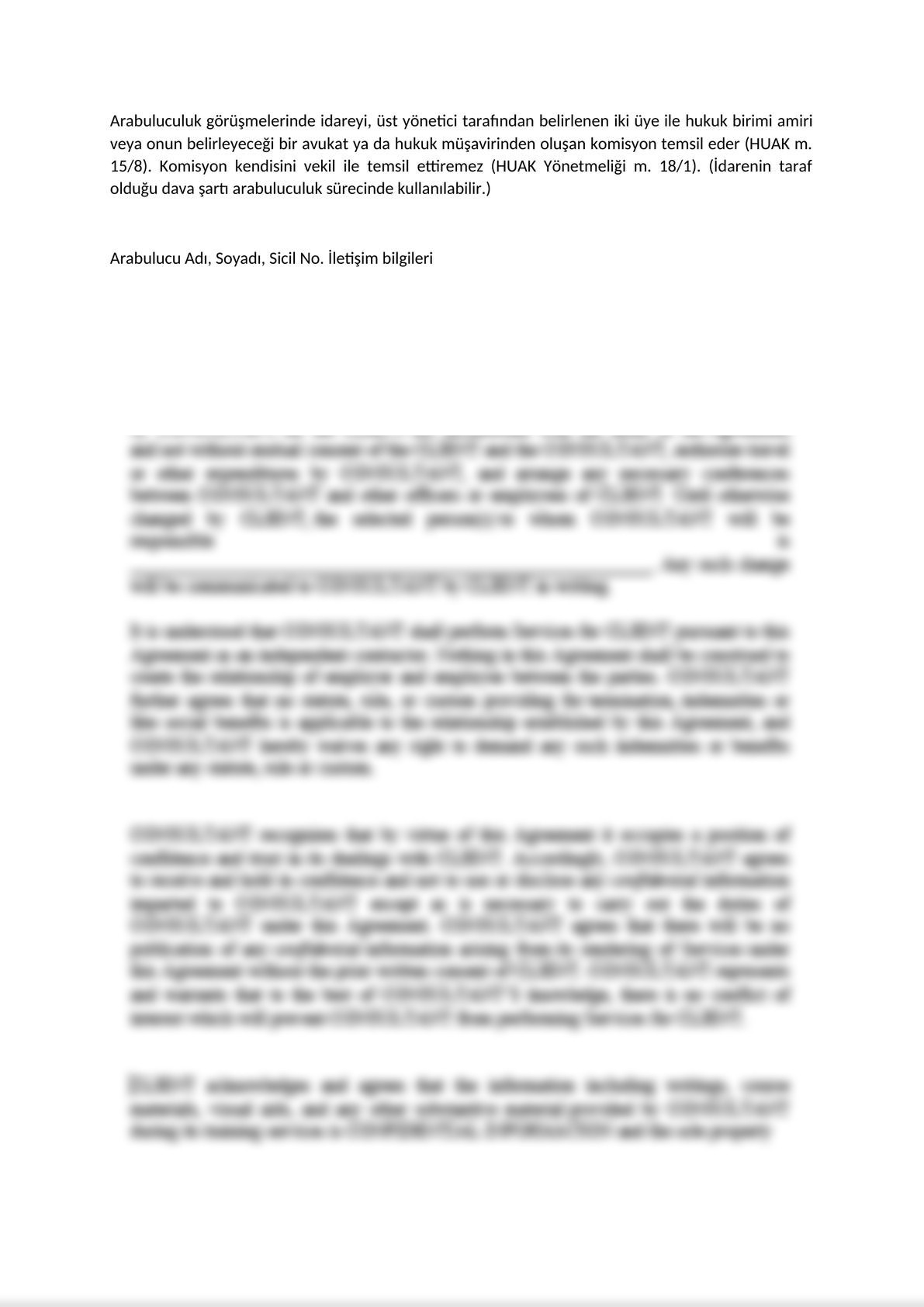 Invitatition Letter to Parties of Mandatory Mediation on Commercial Disputes - Turkish -2