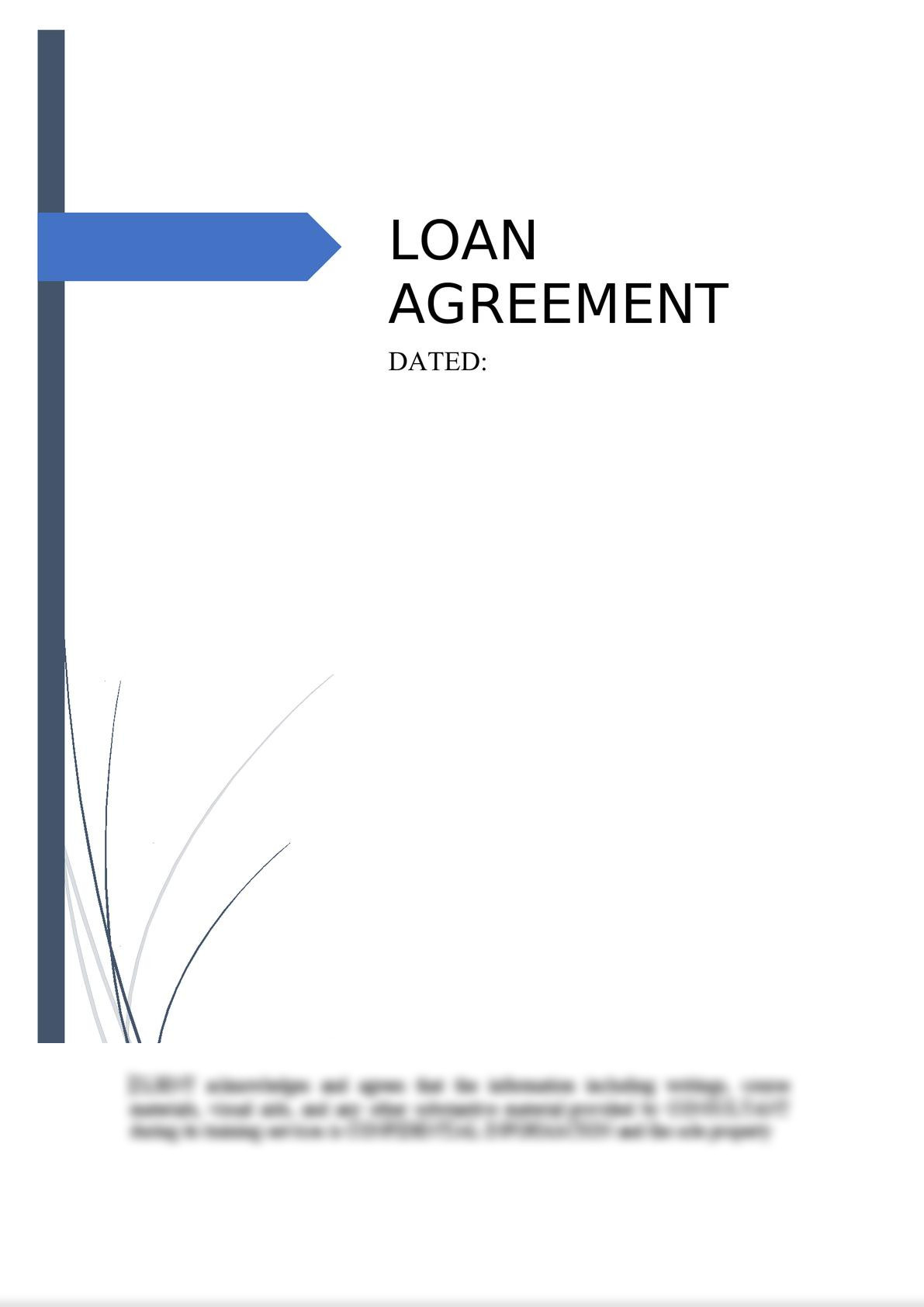 Loan Agreement (Secured)-0