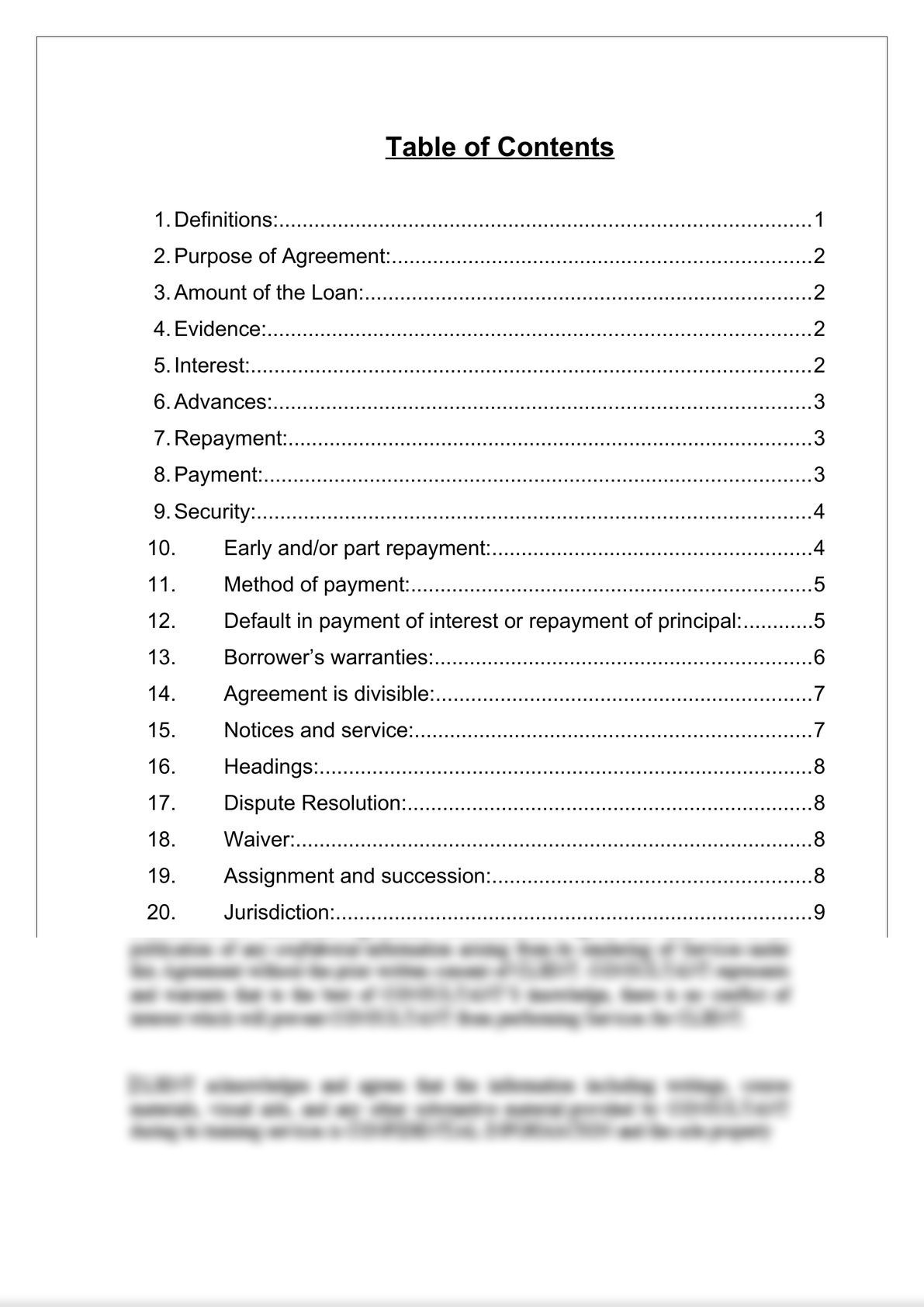 Loan Agreement (Secured)-1