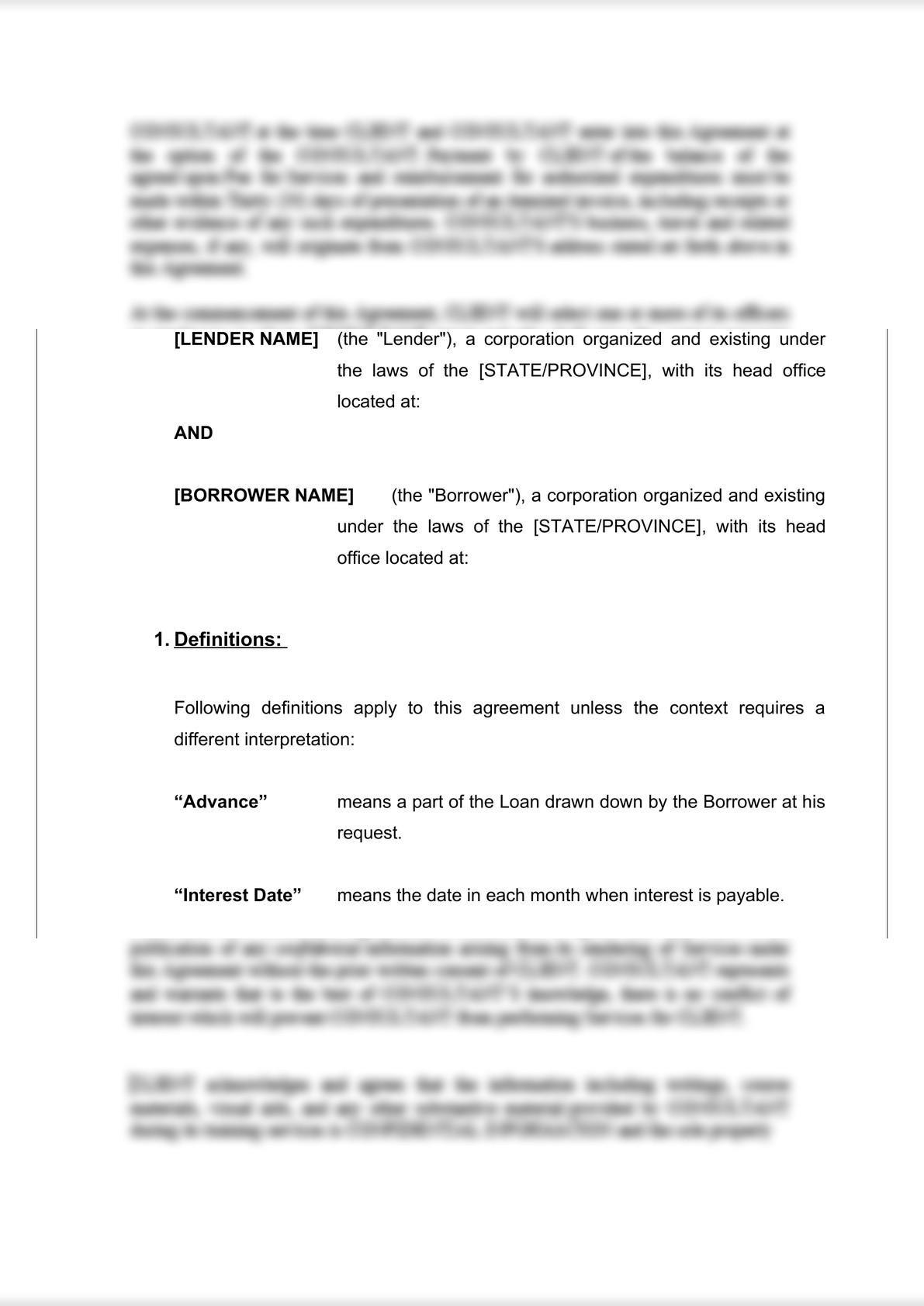 Loan Agreement (Secured)-2