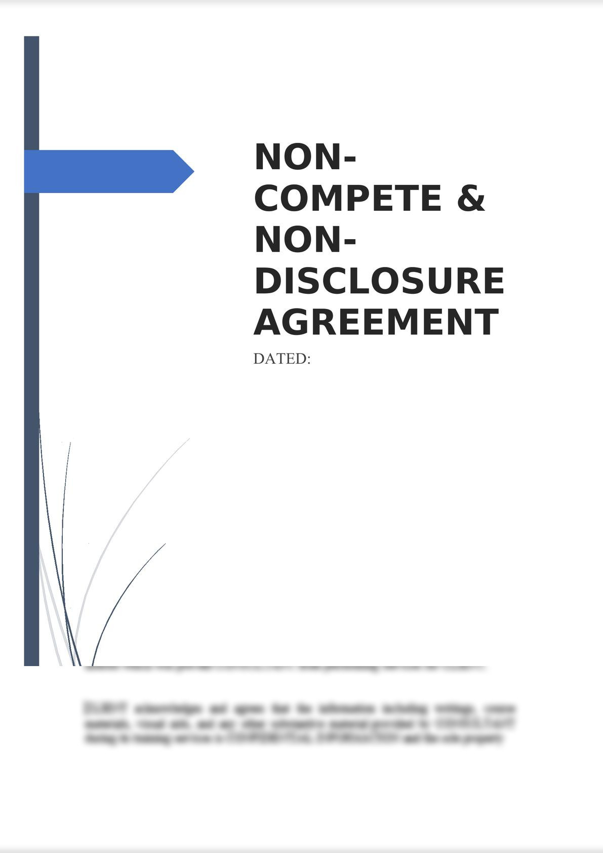 Non-Compete & Non-Disclosure Agreement-0