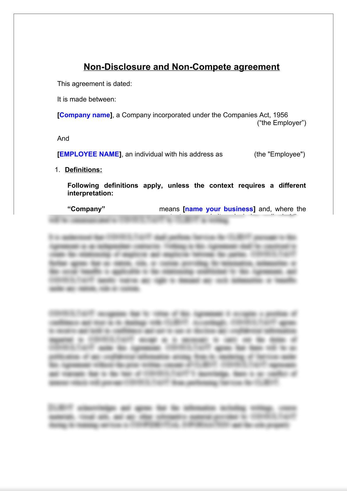 Non-Compete & Non-Disclosure Agreement-2