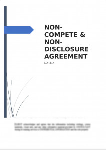 Non-Compete & Non-Disclosure Agreement
