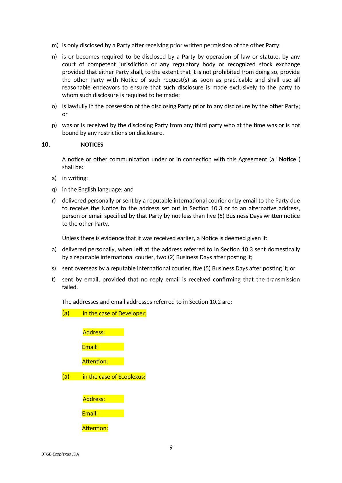 Mẫu Hợp Đồng Phát Triển Dự Án Liên Doanh   Form of Joint Venture Project Development Contract-3
