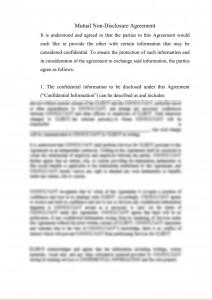 Mutual Non-Disclosure Agreement